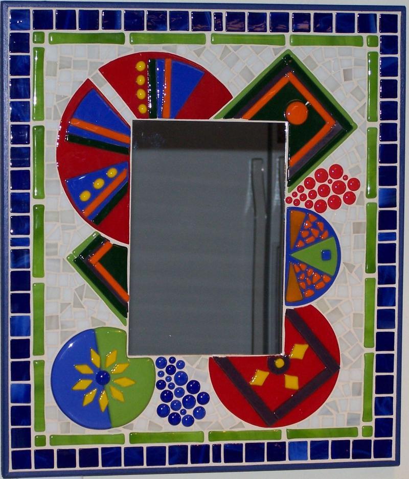 Phoenix Artglass Landscape Glass Tapestry  14x14