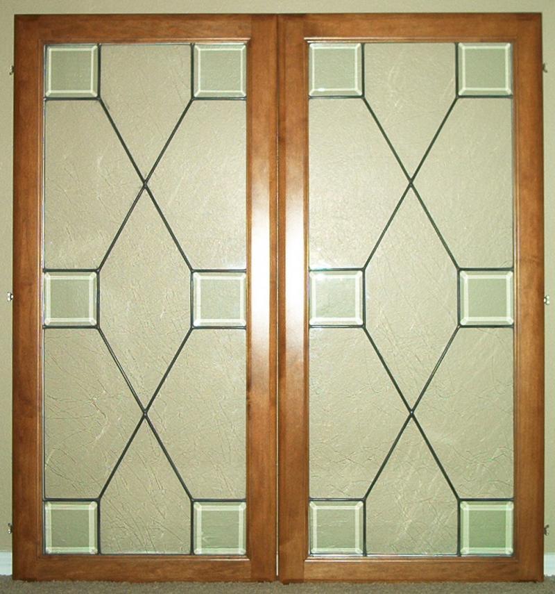 Door glass painting